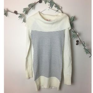 Candies Long Sleeve Cowl Neck Sweater Dress